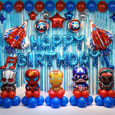 Super Hero Birthday Party Decorations Set Kids Party Supplies Super Hero Balloons For Boys Theme Party Favor