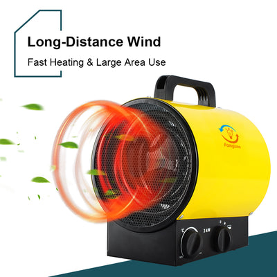 3KW Electric Waterproof Workshop Industrial Fan Heater