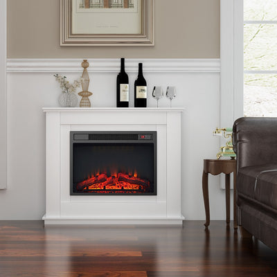 23 inch 1.8KW Electric Fireplace with Suround Log Fire Cabinet Heater
