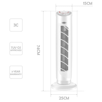 "29"" Oscillating Tower Fan Cooling 3 Speed Timer"