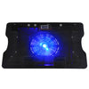 "Fan Laptop Cooler Cooling Mat Stand For 12"" 15.4"" 15.6"" inch Pad Notebook Black"