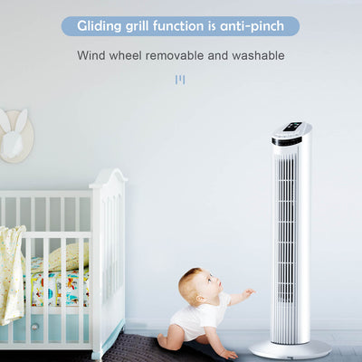Oscillating Cooling Tower Fan 3 Speed with 7.5H Timer & Remote