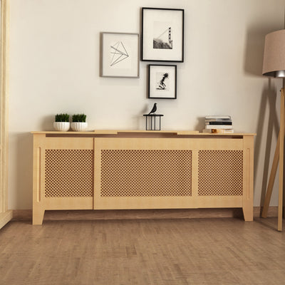 Adjustable Oak Radiator Cover Cabinet Large Size Radiator