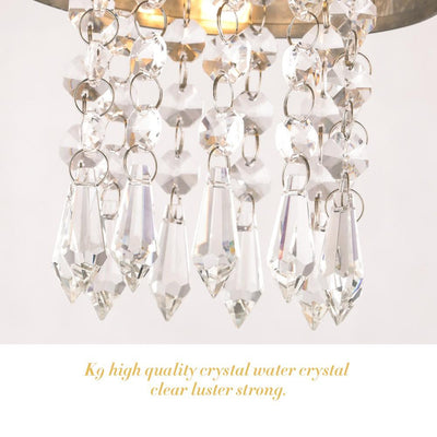 LED Modern Chrome Crystal Ceiling Lights Lamp 6010-16