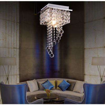 LED Modern simple crystal chandelier ceiling lamp 2912-01
