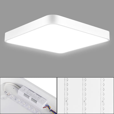 48W LED Square Flush Ceiling Lights with Remote Control 2800-6500K 9600LM Dimmable