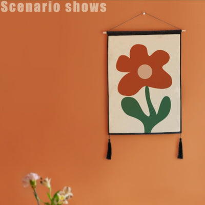 45X65cm Modern Flower Painting Wall Hanging Decorative Tapestry Abstract Painting