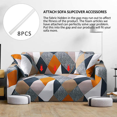 Abstract Colour-Block Geometry Sofa Covers Pattern Stretch Fabric Slip Elastic Couch Sofa Slipcover Washable