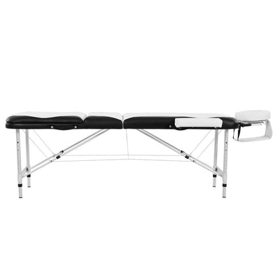 Folding Massage Table Couch Bed Lightweight Aluminium Portable 3 Section