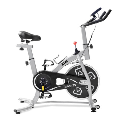 Adjustable 18lbs 8kg Flywheel Home Exercise Bike with LCD Console