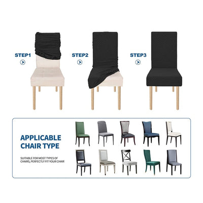 Grey Modern Minimalist Chair Cover High Elastic And Thick Hotel Home Chair Protective Cover