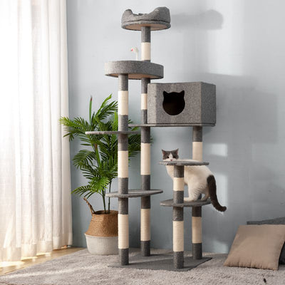 Large 8 Tier Cat Tree Climbing Tower Scratcher Activity Centre