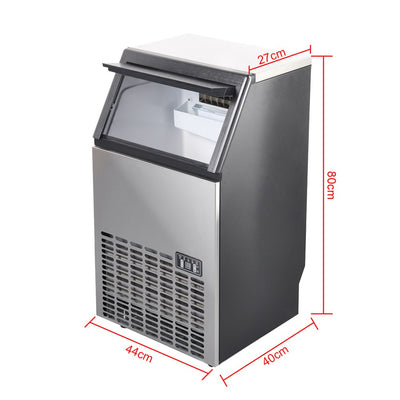 Commercial Self-Clean Large Ice Maker Stainless Steel Machine 132.3lb For Bar Restaurant Hotel