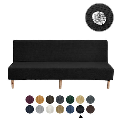 Black Sofa Cover Waterproof Folding Solid Color Elastic Thickening