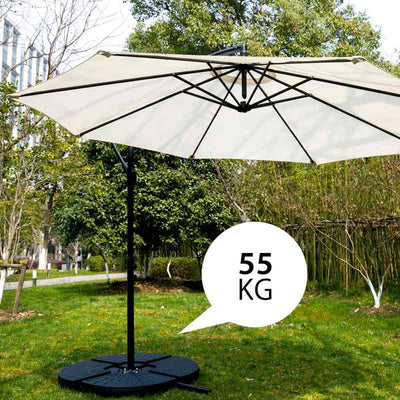 4 x Parasol Weights Parasol Base Stand For Cantilever & Banana Hanging Umbrellas