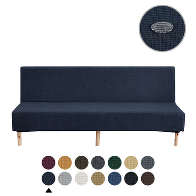 Navy Blue Sofa Cover Waterproof Folding Solid Color Elastic Thickening