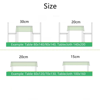 Green Plant Banana Leaf Double-layer Cotton and Linen Table Runner