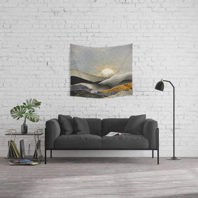 Morning Sun and Mountain Wall Tapestry Home Decor Wall Hanging