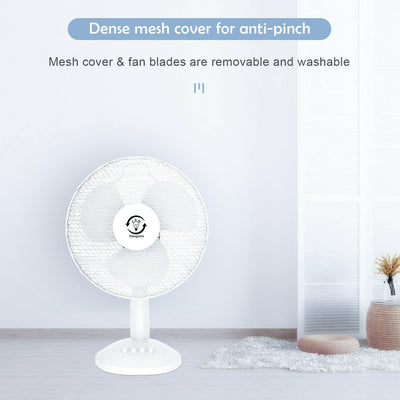 "40W 16"" Desk Table Fan Electric Portable Oscillating Home Office Air Cooling"