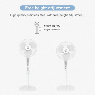 "16"" Pedestal Fan Oscillating Free Standing with Remote Control"