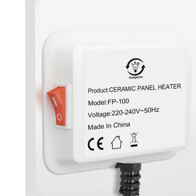 Paintable Ceramic Wall Panel Heater Slimline Power-Saving Radiator 600W