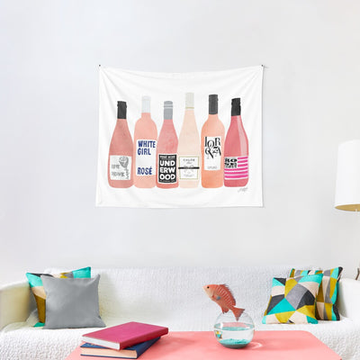 Rose Bottles Tapestry Pink Girls Party Wall Hanging Fashion Home Decoration for Bedroom Living Room