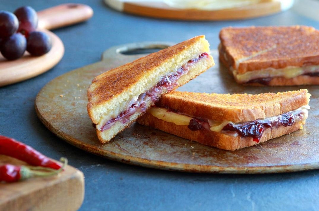 Grilled Cheese and Muscato-Chile Jam Sandwiches