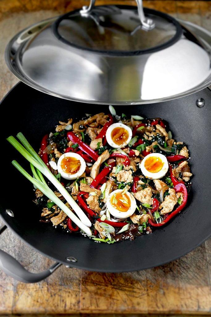 Chicken and Egg with Black Bean Sauce Stir-Fry