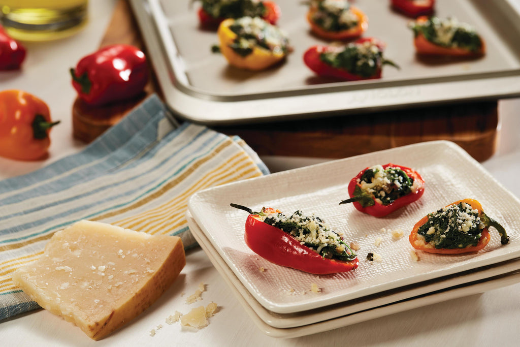 Florentine Stuffed Baby Peppers