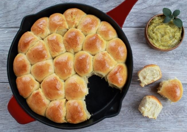 Parker House Rolls with Sage-Honey Butter