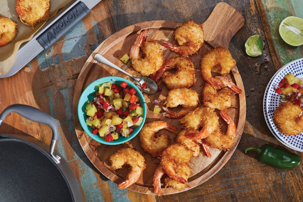 Crispy Coconut Shrimp with Pineapple Relish