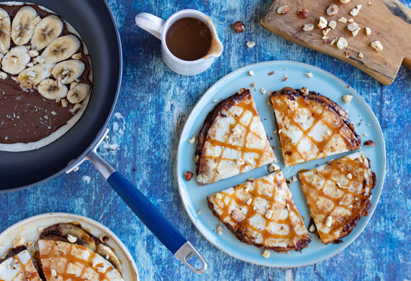 Chocolate-Hazelnut and Banana Quesadillas with Dulce de Leche