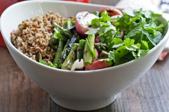 Radish and Asparagus Wild Rice Salad