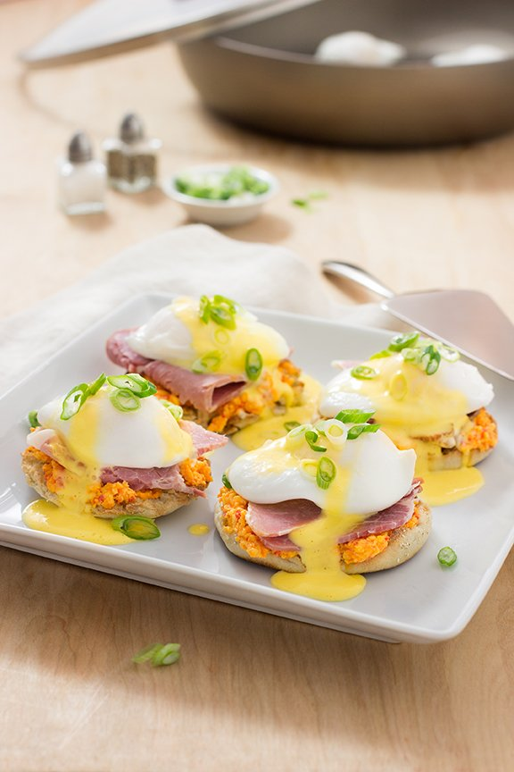 Country Ham and Pimento Cheese Benedict