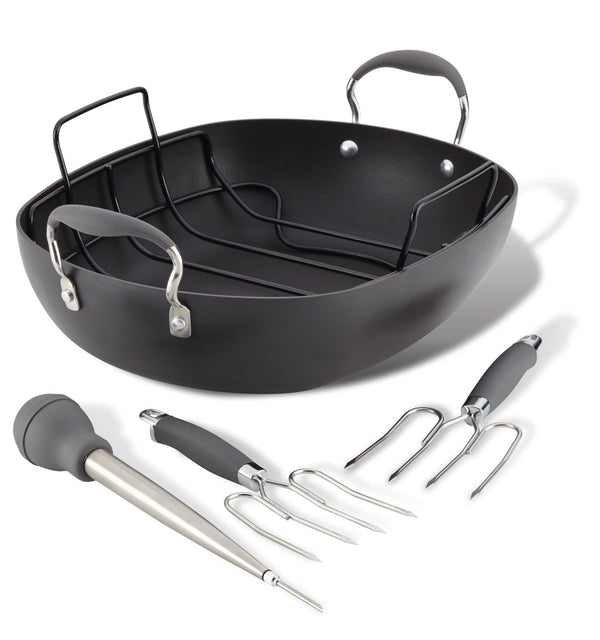 "13"" x 16"" Oval Roaster Set"