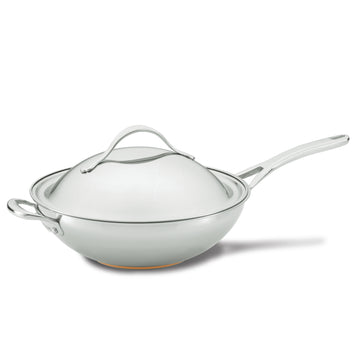 Nouvelle Stainless 12-Inch Stir Fry with Lid