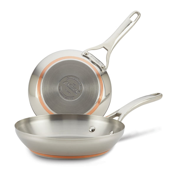 Nouvelle Copper Stainless Steel Frying Pan Set