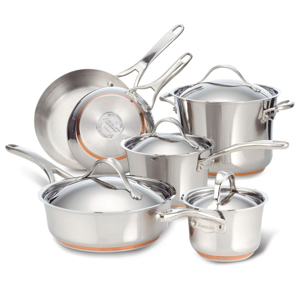 Nouvelle Copper Stainless Steel Cookware Set