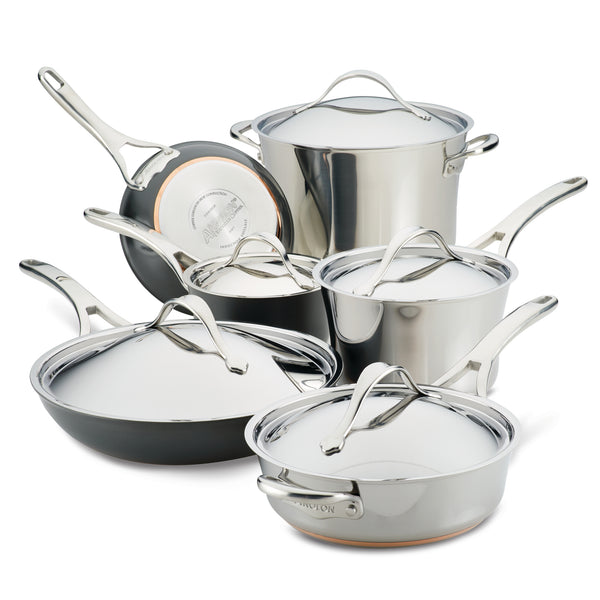 Nouvelle Copper Mixed Metals Cookware Set