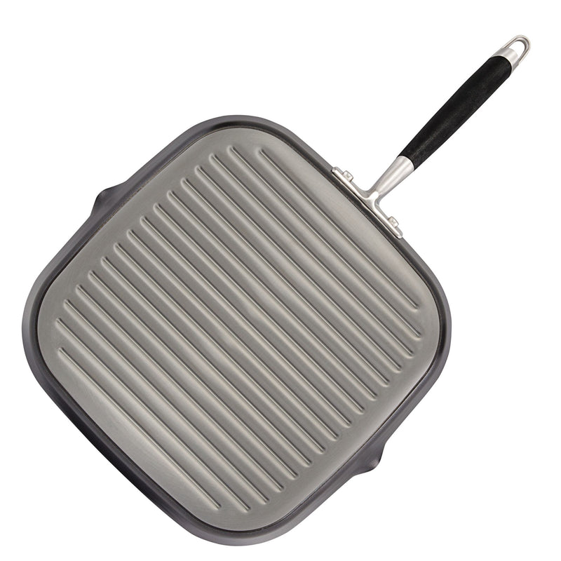 11-Inch Deep Square Grill Pan with Pour Spouts