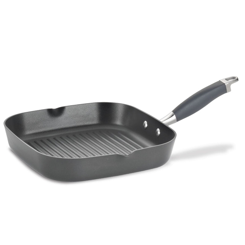 Advanced Deep Square Grill Pan with Pour Spouts