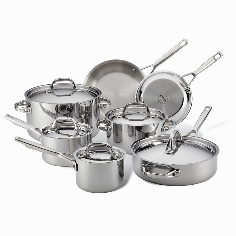 12.75 Stainless Steel Anolon 30830 Tri-Ply Clad Skillet