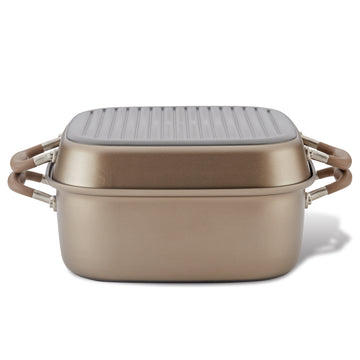 Advanced Square Dutch Oven and Grill Pan Lid