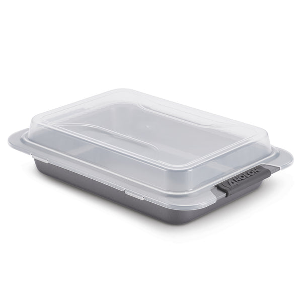 Advanced Cake Pan with Silicone Grips and Lid
