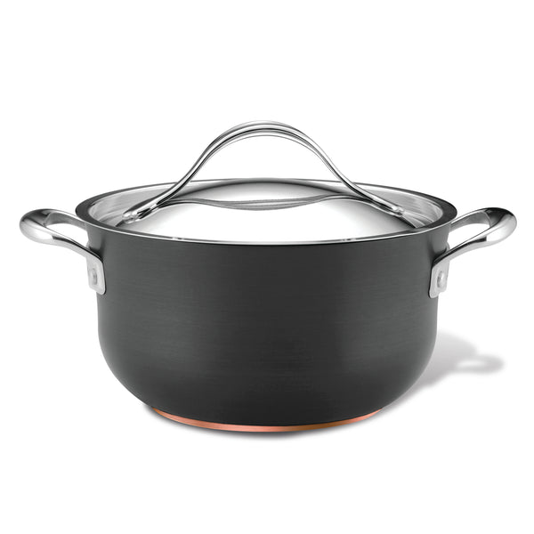 Nouvelle Copper Nonstick 4-Quart Covered Casserole