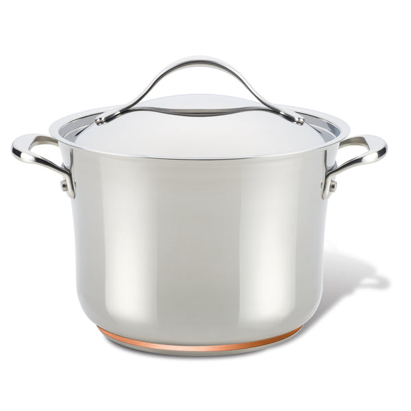 Nouvelle Copper Stainless Steel Stockpot with Lid