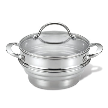Tri-Ply Clad Universal Steamer Insert with Lid