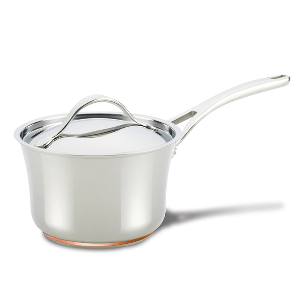 Nouvelle Copper Stainless Steel Saucepan with Lid