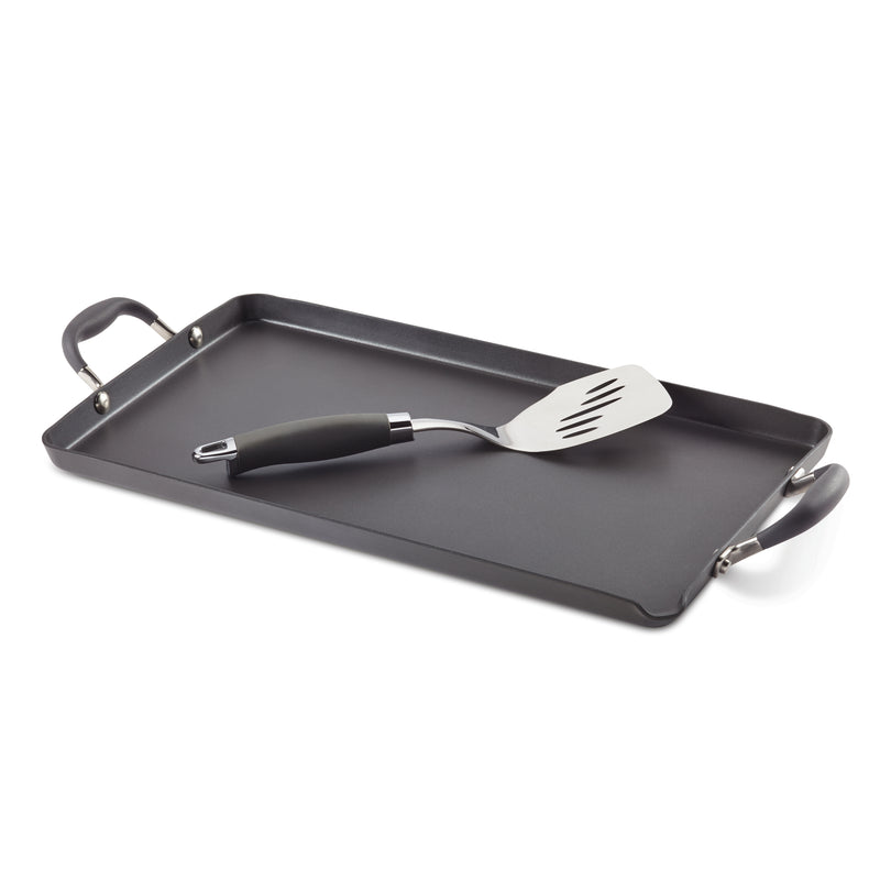 10-Inch x 18-Inch Double Burner Griddle with Mini Turner