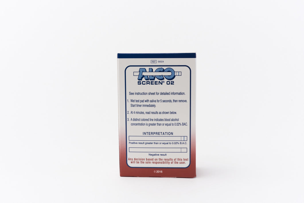 Alco-screen 02 DOT saliva alcohol test